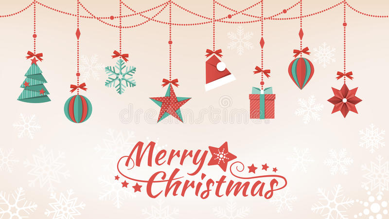 Paper Christmas decorations vector illustration