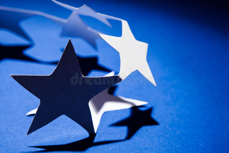 Paper christmas stars. royalty free stock image