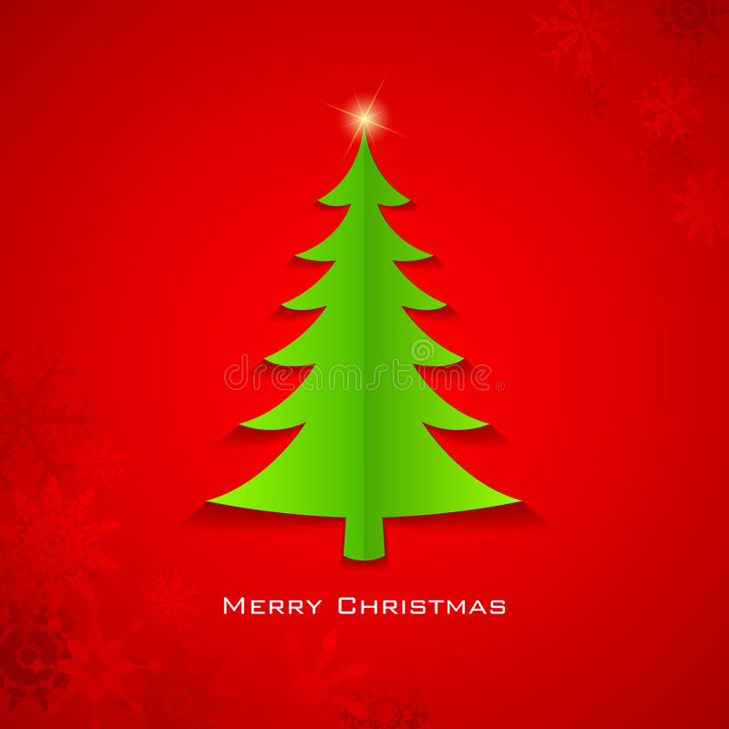 Paper Christmas Tree royalty free illustration