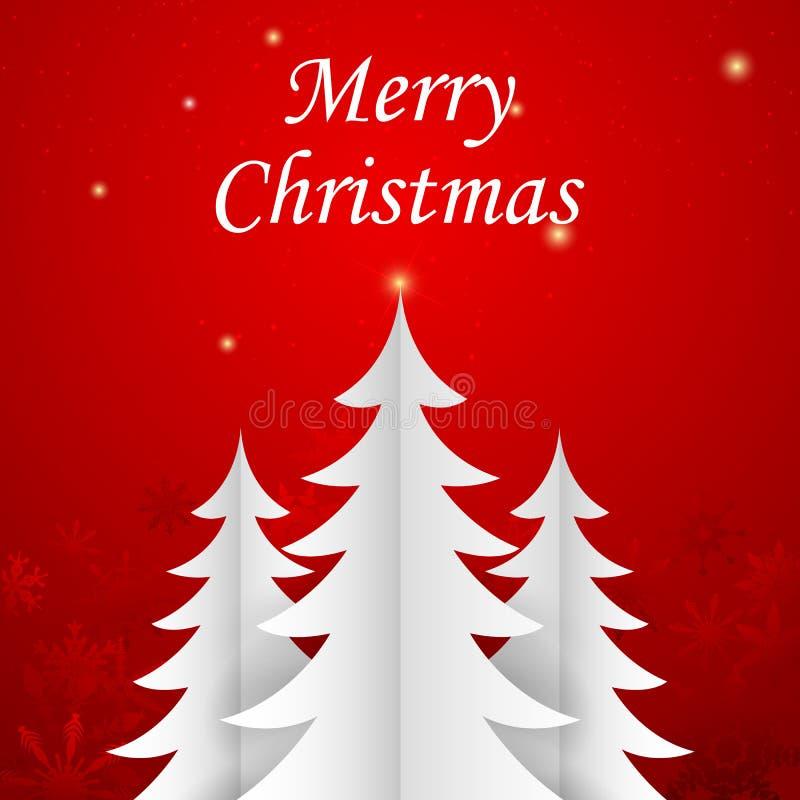 Paper Christmas Tree vector illustration