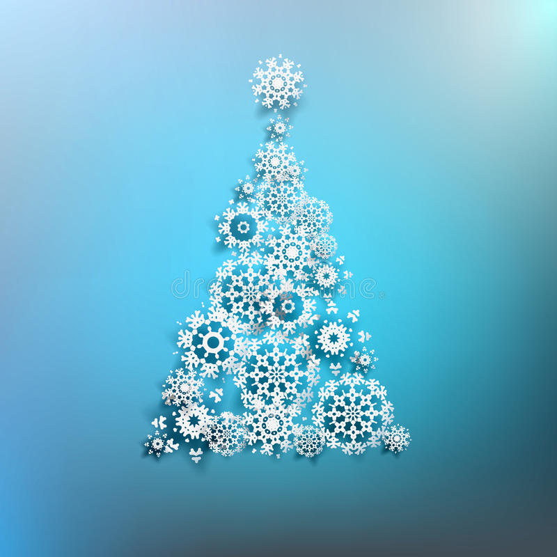 Download Paper Christmas Tree Made From Snowflakes. EPS 10 Royalty Free  Stock Photography   Image