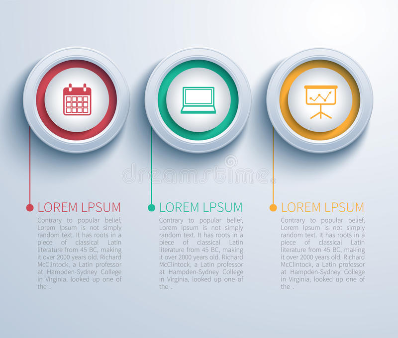 Paper circle infographic stock illustration