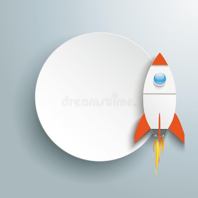 Paper Circle Rocket royalty free illustration