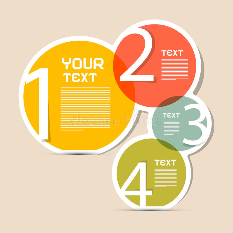 Paper Circle Vector Infographics Layout stock illustration