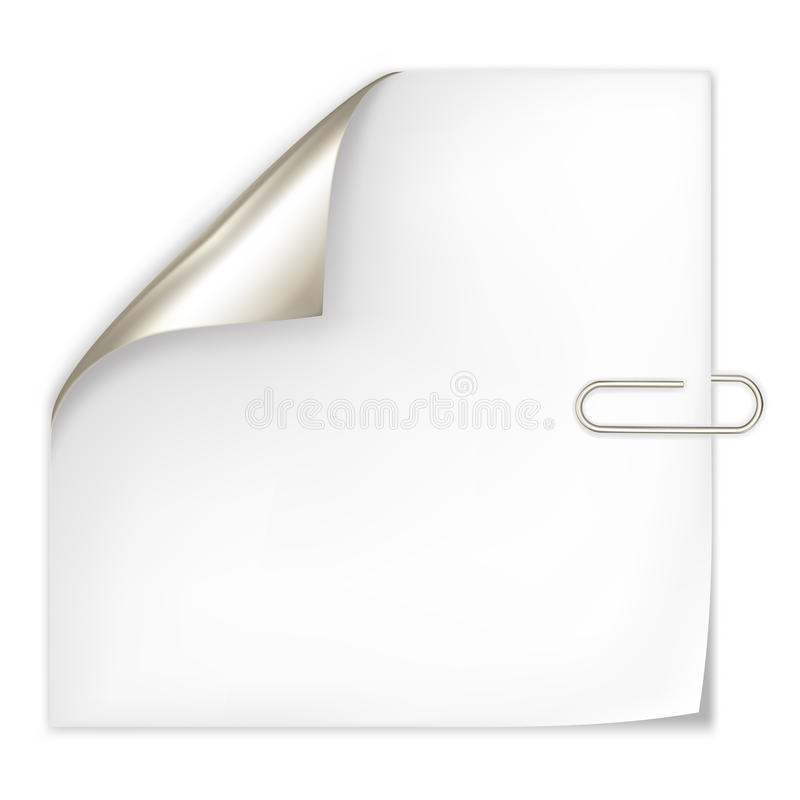 Paper and clip royalty free illustration