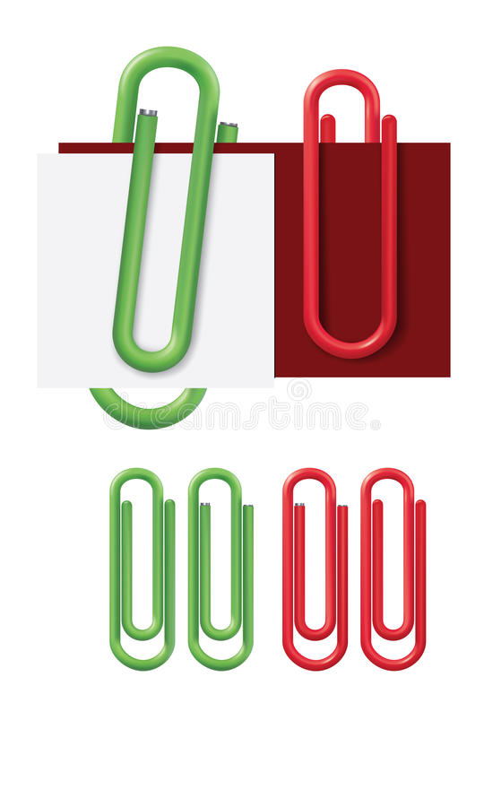 Paper clip. Vector illustration, mesh stock illustration