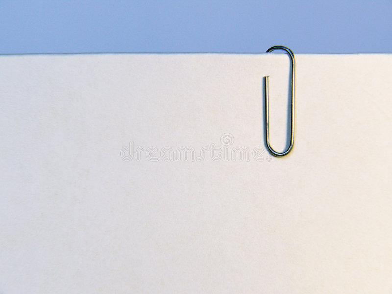 Paper With Clip Royalty Free Stock Photo