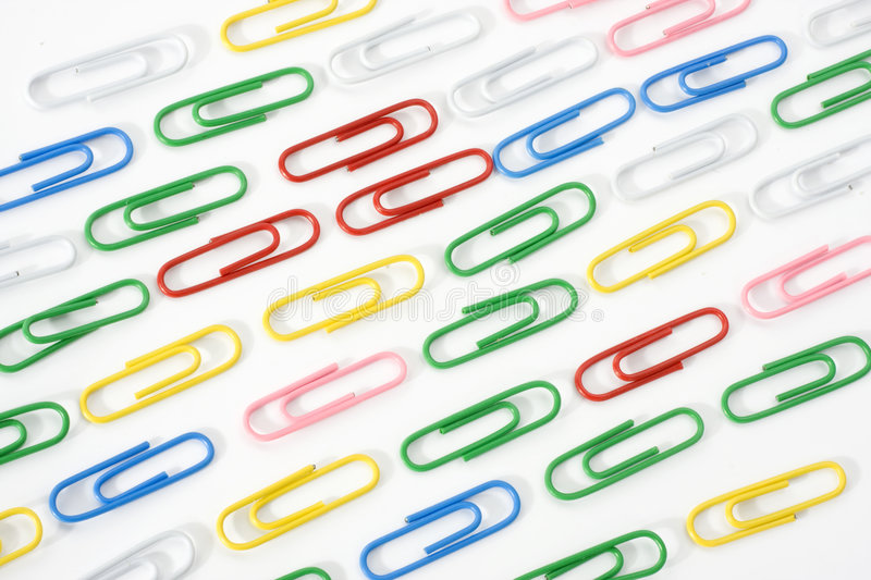 Paper clip. On white background stock photography