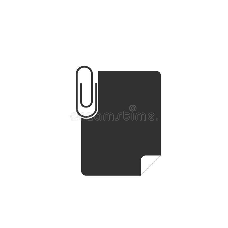 Paper clip attachment icon. Stock vector illustration isolated on white background. Paper clip attachment icon. Stock vector illustration stock illustration