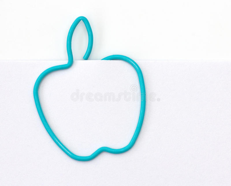 Download Paper Clip In The Form Of Apple Stock Illustration - Illustration of sheet, isolated: 39509654