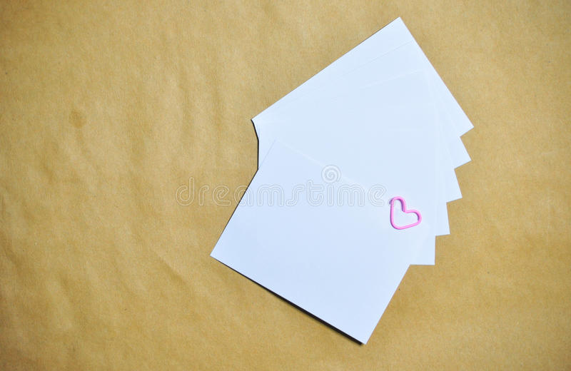 Paper clip form of heart. Paper clip illustration in the form of heart royalty free stock images