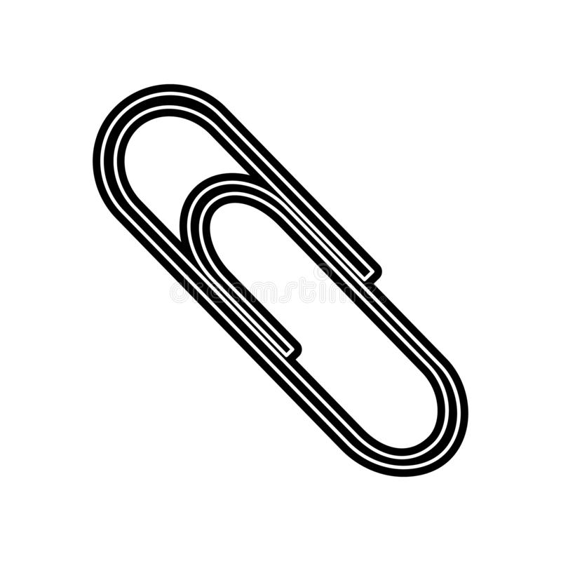 Paper clip icon. Element of Education for mobile concept and web apps icon. Glyph, flat icon for website design and development,. App development on white stock illustration