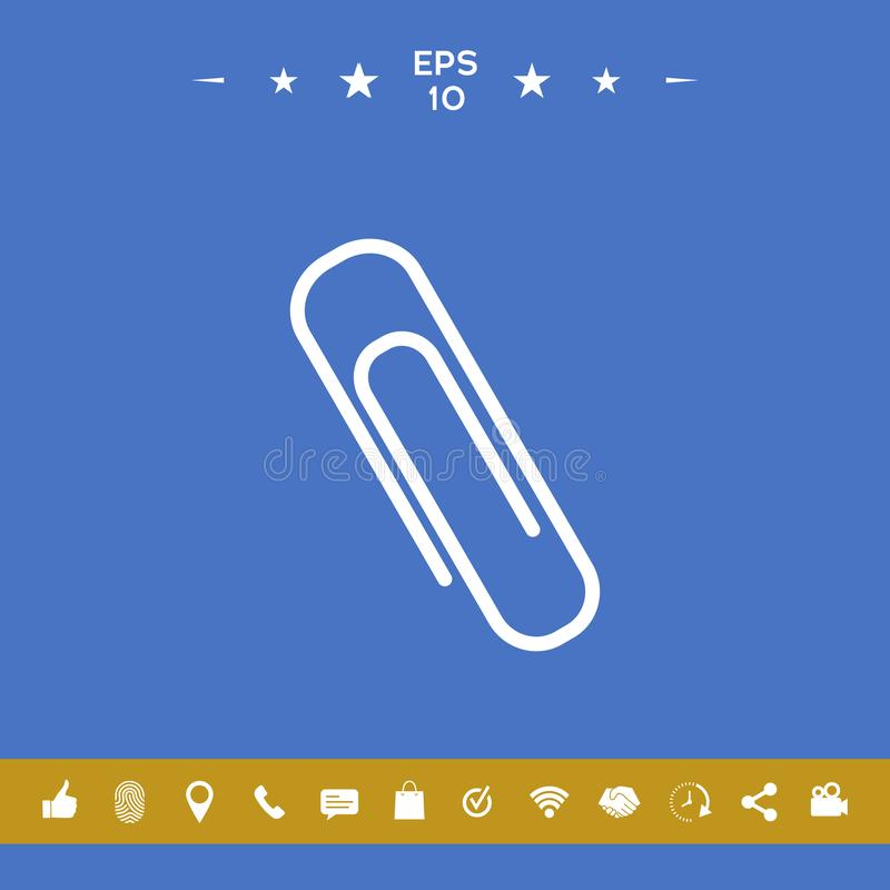 Paper clip icon royalty free illustration