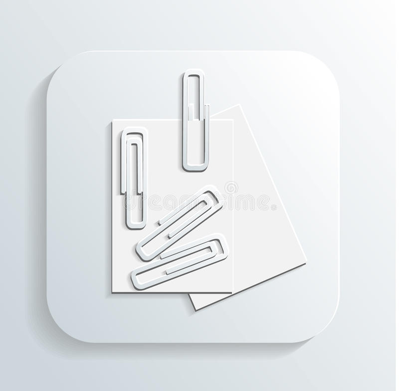 Download Paper clip icon vector stock vector. Image of letter - 32901075