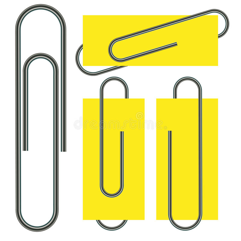 Paper clip isolated on paper. Vector illustration royalty free illustration