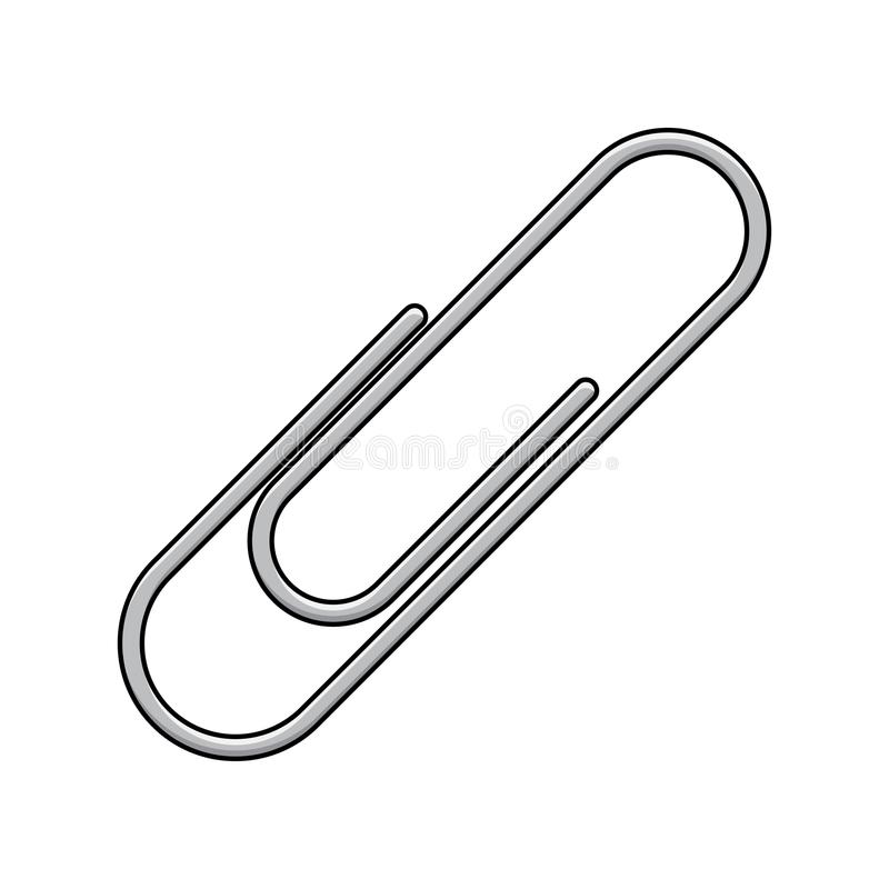 Paper clip office vector design isolated on white vector illustration