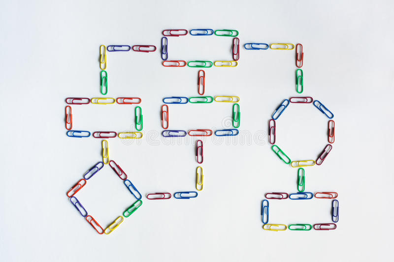 Paper clip organization chart stock photos