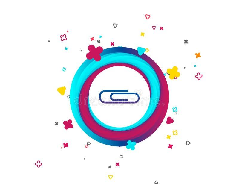 Paper clip sign icon. Clip symbol. stock illustration