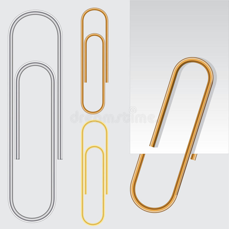 Paper clip, vector eps10 illustration. Paper metal clip, high quality vector eps10 illustration royalty free illustration