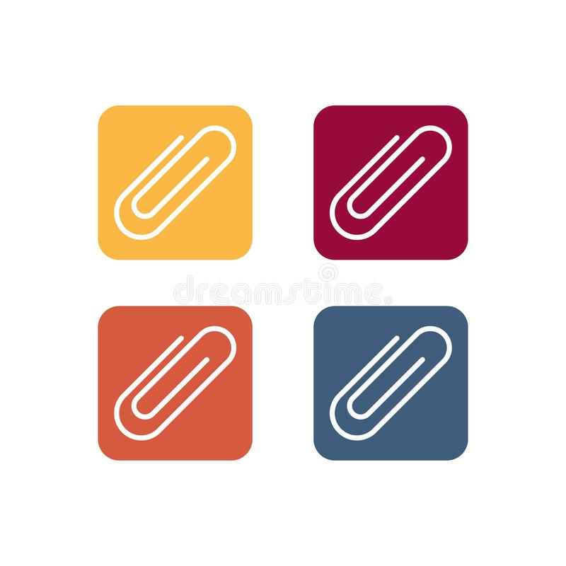 Free Paper Clip Vector Icon Symbol Isolated On White Background Stock Photos - 161232323