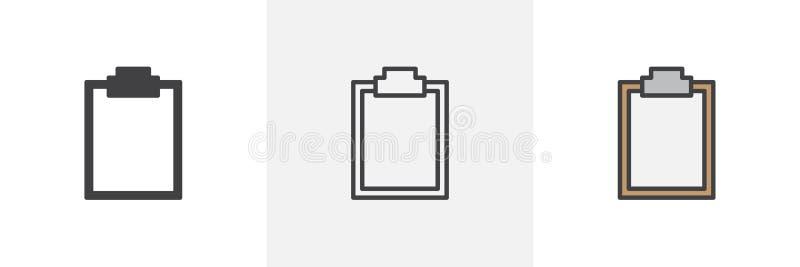 Paper clipboard icon stock illustration