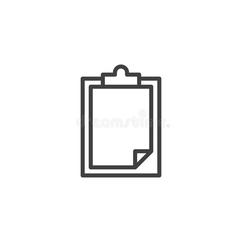 Paper clipboard outline icon royalty free illustration