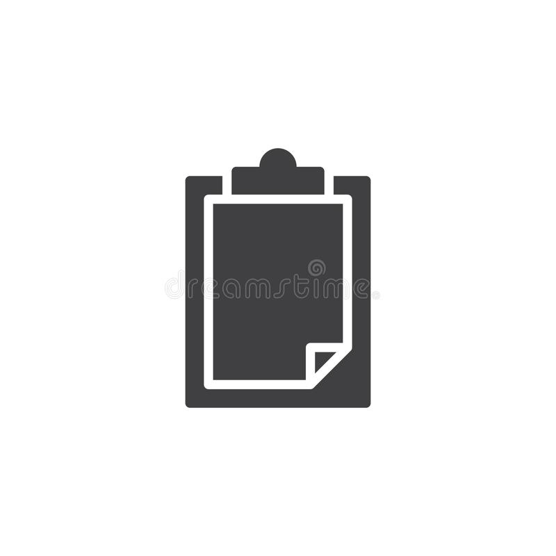 Paper clipboard vector icon stock illustration