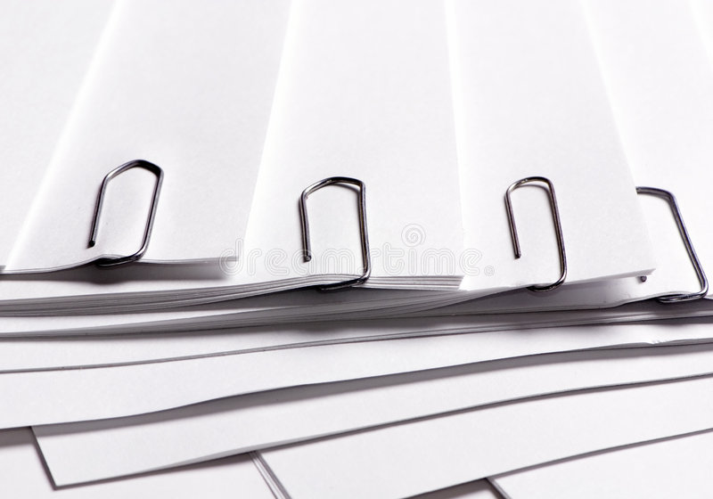 Download Paper Clipped Royalty Free Stock Image - Image: 1411926