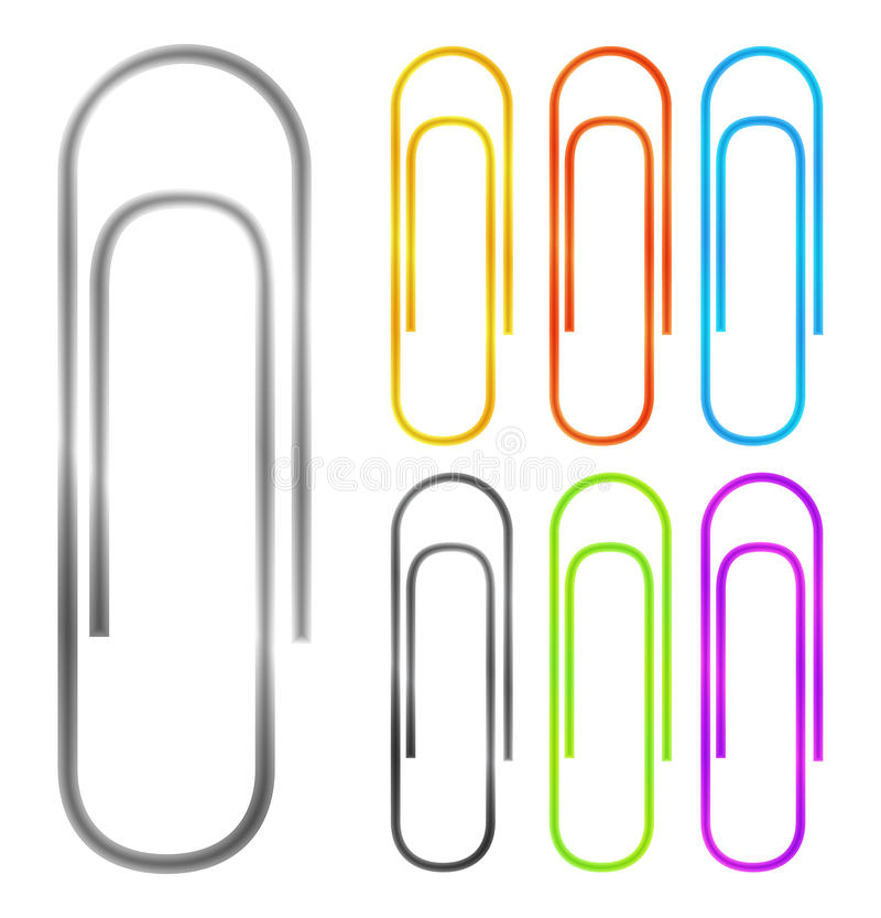 Download Paper clips stock vector. Illustration of closeup, macro - 26098748