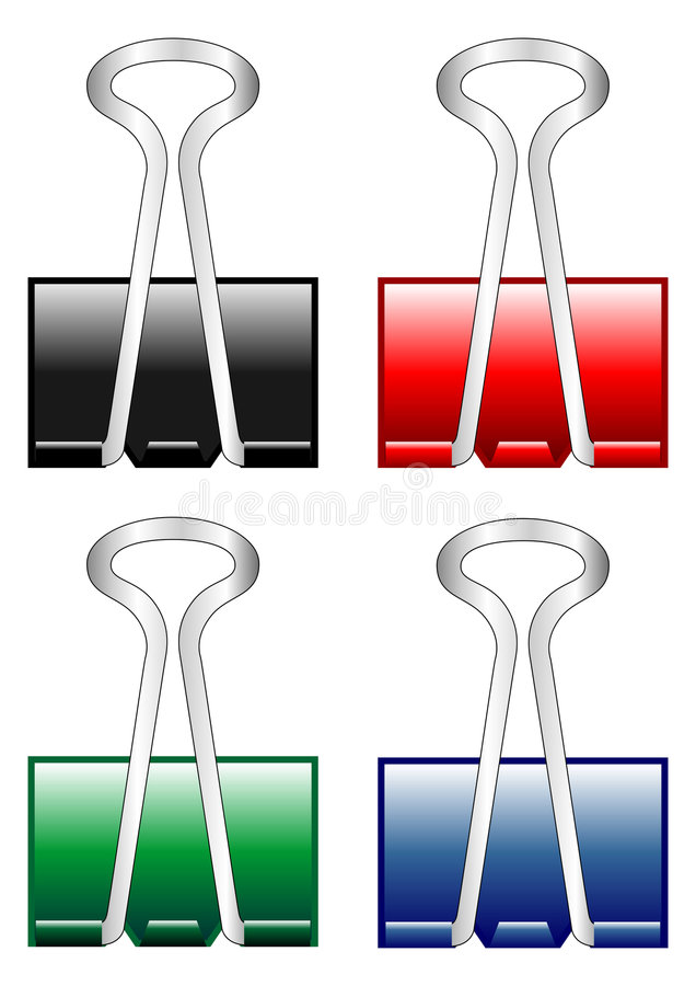 Download Paper clips stock vector. Illustration of scalable, reminder - 6343683