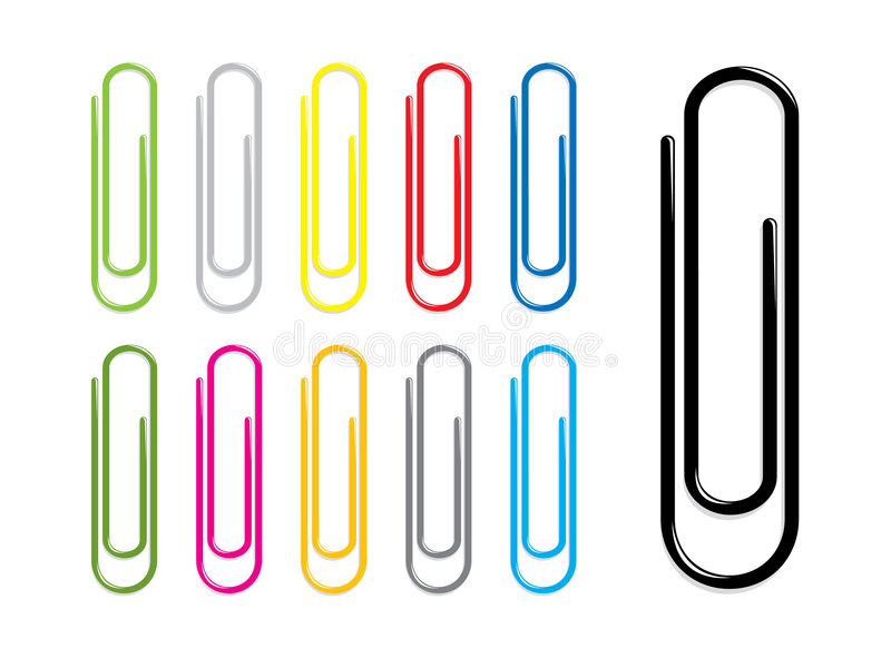 Paper clips stock illustration