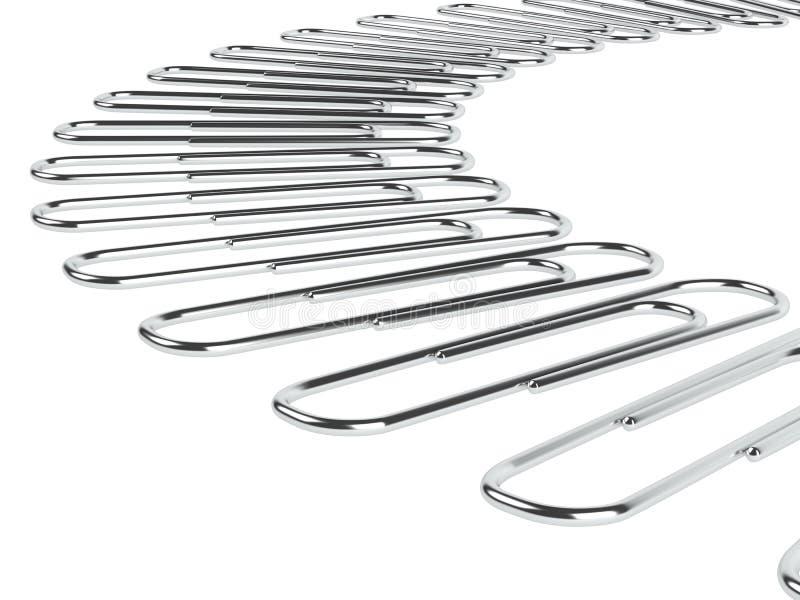Paper clips stock illustration