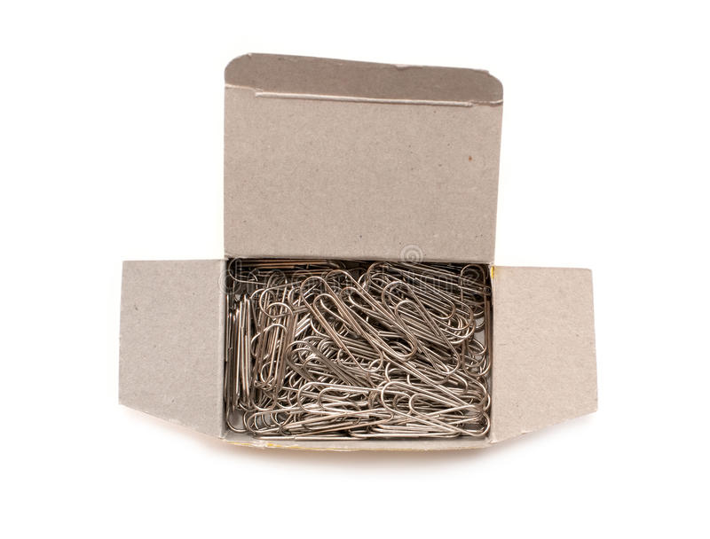 Paper-clips in box. Objects / 1 1 stock photography