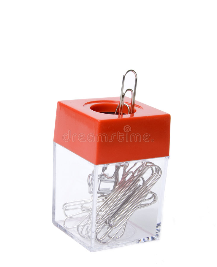 Paper clips holder stock photos