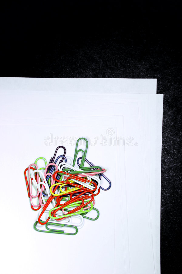 Paper Clips On Paper royalty free stock image