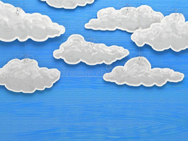 Paper cloud sky. Conceptual image stock illustration