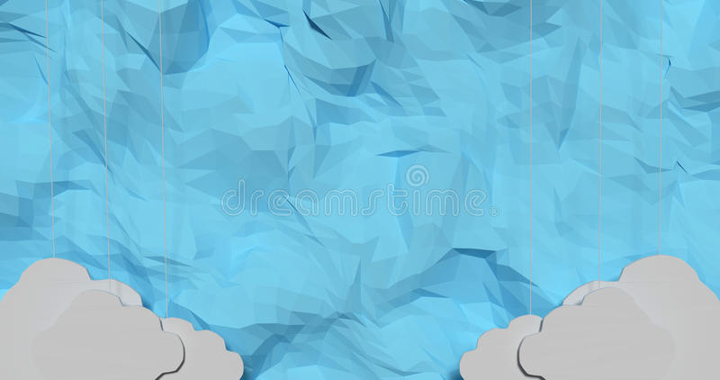 Paper Clouds Frame stock images