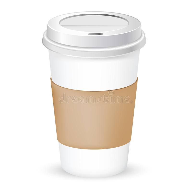 Paper coffee cup royalty free illustration