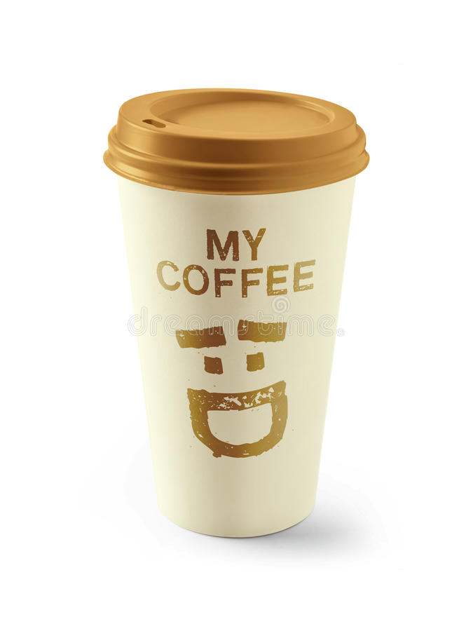 Paper coffee cup stock photos