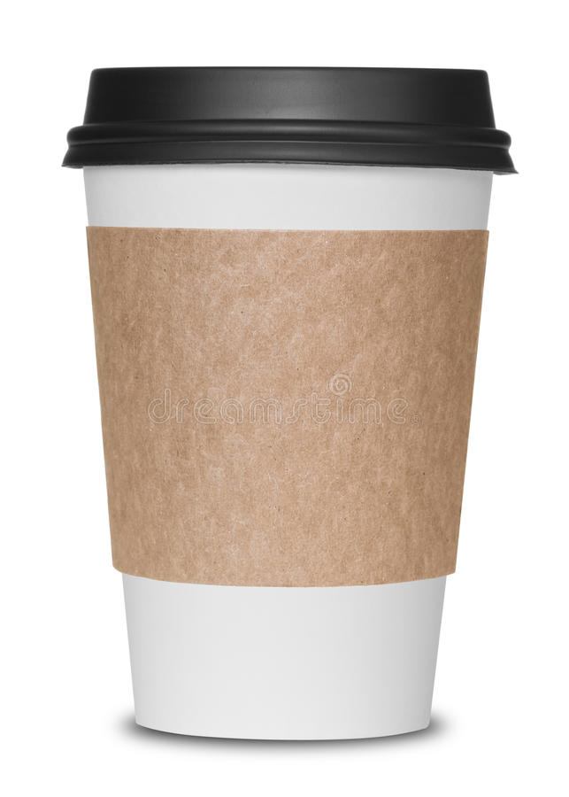 Paper coffee cup stock image. Image of disposable, cream ...