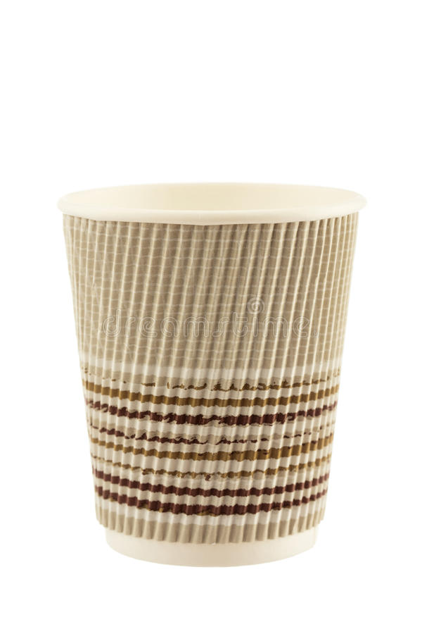 Paper coffee cup isolated on white background royalty free stock photo