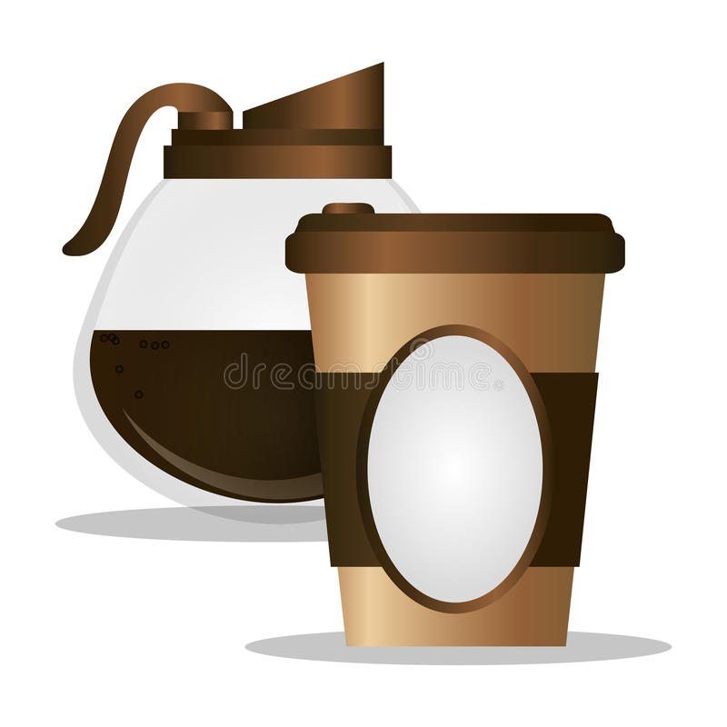 Paper coffee cup maker glass. Illustration eps 10 royalty free illustration