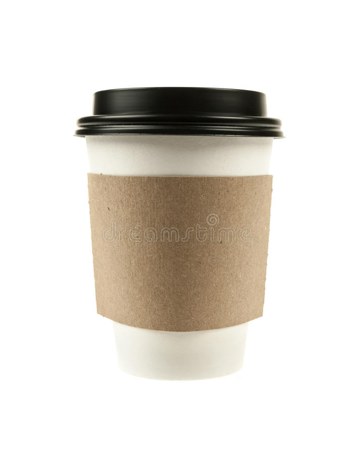 Paper coffee cup royalty free stock photos