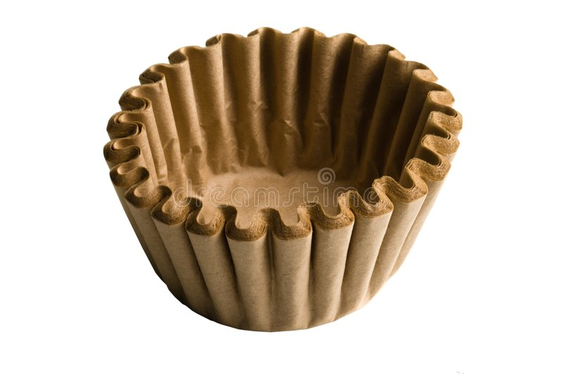 Paper coffee filter royalty free stock images
