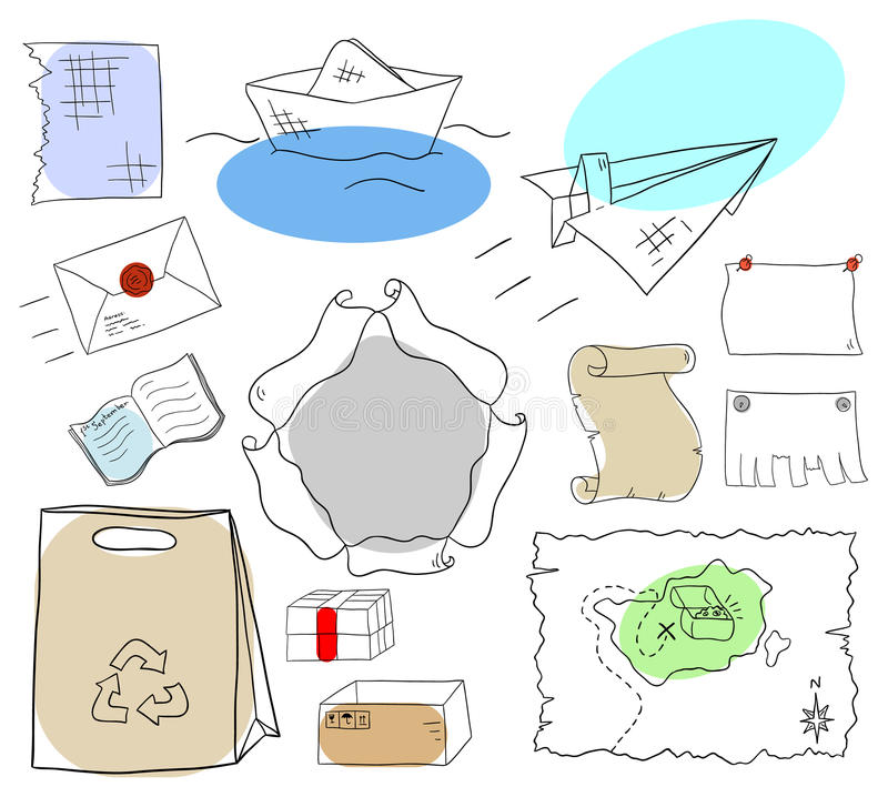 Paper collection stock illustration