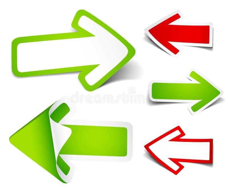 Paper Colour Arrows Stock Images
