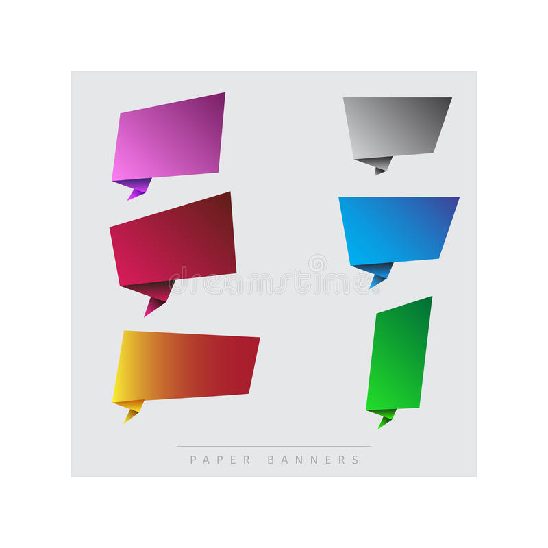 Paper, colourful banners royalty free stock image