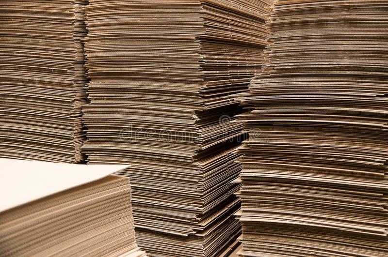 Paper columns. Columns made from carton paper royalty free stock image
