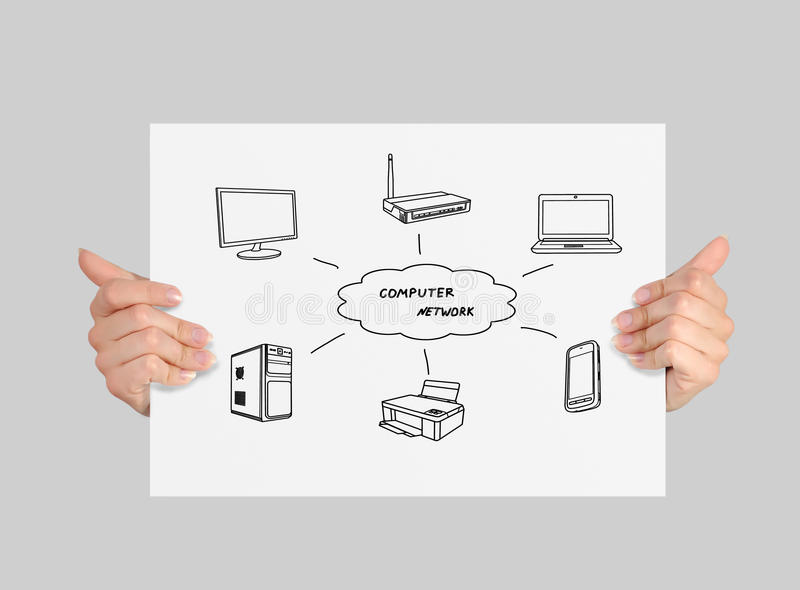 Download Paper With Computer Network Royalty Free Stock Photos - Image: 34082688