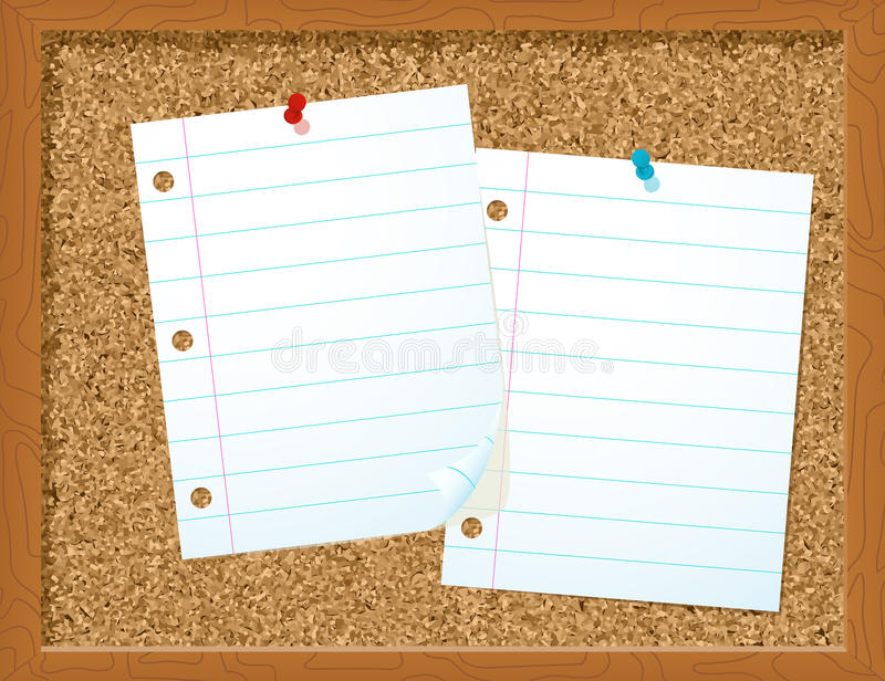 Download Paper on corkboard stock vector. Image of isolated, business - 15442551